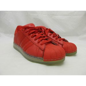 Adidas Superstar Red Shell Toe Sneakers Shoes